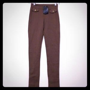 Zara basic thick brown leggings